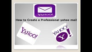 Comment faire pour Créer un Professionnel de yahoo mail compte de bangla