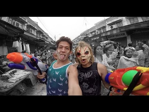 WATER FESTIVAL WITH DJ BL3ND | DJ BLEND IN BANGKOK THAILAND SONGKRAN FESTIVAL THAI NEW YEARS 2015