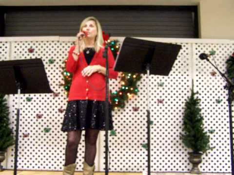 Jo Ann Bullard performimg ar RSVP Luncheon 12-12-13