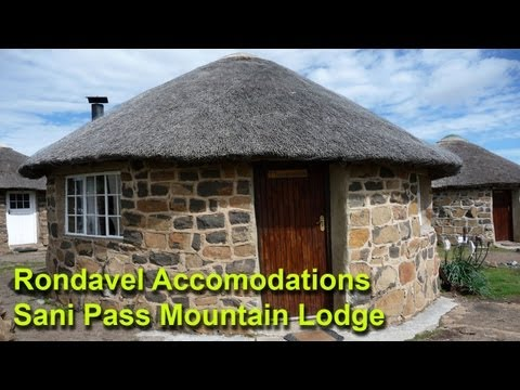 Our Next Adventure (retro) - Rondavel accomodations at Sani Pass Lodge in Lesotho