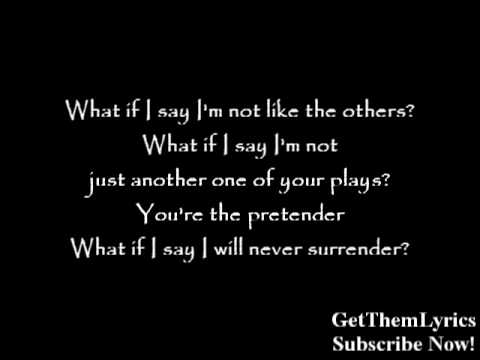 Foo Fighters - The Pretender (Lyrics) - GetThemLyrics - YouTube
