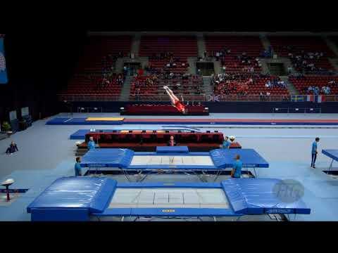 STEVENS Jessica (USA) - 2017 Trampoline Worlds, Sofia (BUL) - Qualification Trampoline Routine 2