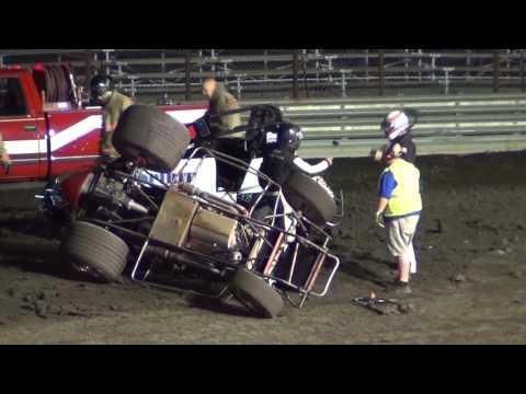 Scotty Weir/ Bob East Crash (Gas City Speedway 8-10-2012)