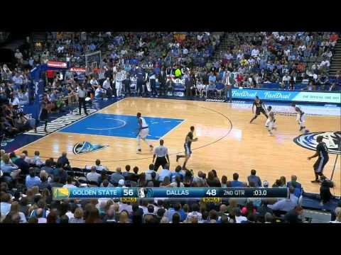 Marreese Speights Deep 3 Pointer Buzzer Beater - Warriors vs Mavericks - April 04, 2015 NBA