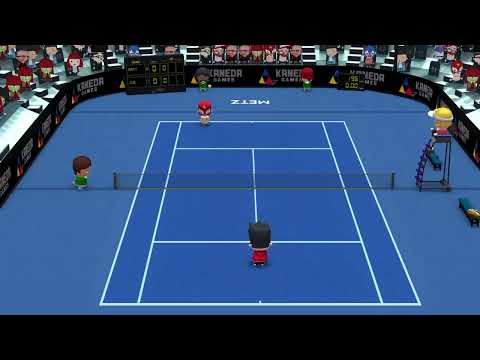 Smoots World Cup Tennis - Multiplayer Gameplay.  