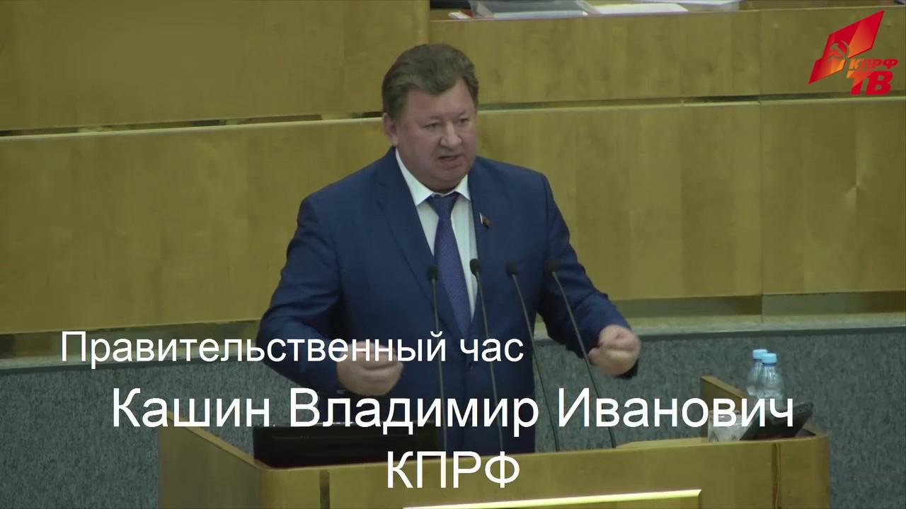 Выступление Владимира Кашина по итогам доклада министра Сергея Донского