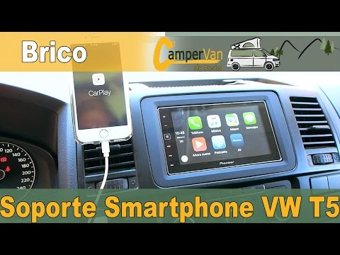 Soporte Smartphone VW T5 | Viajando en furgoneta Camper o Autocaravana