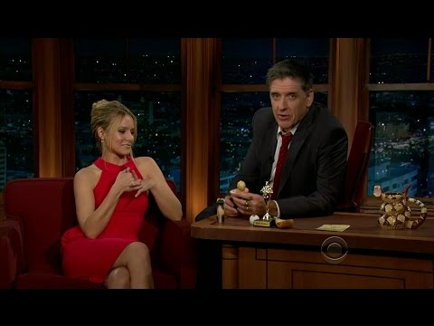 Late Late Show with Craig Ferguson 1/13/2012 Kristen Bell, Louie Anderson