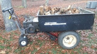 Power Wheelbarrow Self Propelled Dump Cart
