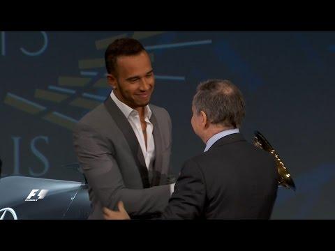 Hamilton, Rosberg And Vettel Receive 2015 Trophies