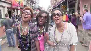 Mardi Gras Bourbon St. New Orleans