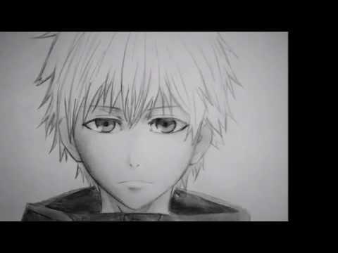 How to draw an Anime face Como dibujar una cara Anime Kaneki