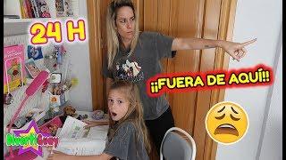 ME ECHAN DE CASA 😱 24 HORAS HACIENDO DEBERES! BROMA PESADA A MIS PADRES! MI MADRE SE ENFADA MUCHO
