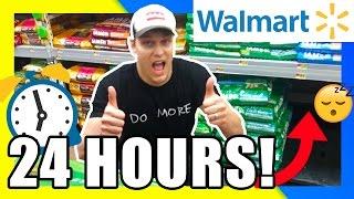 BEST 24 HOUR FORT EVER!!! WALMART 24 HOUR FORT CHALLENGE | 24 HOUR TOILET PAPER FORT