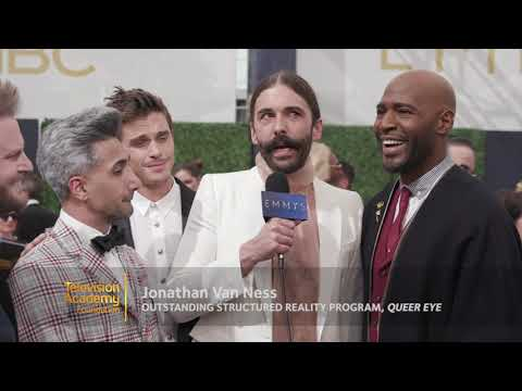 "The cast of ""Queer Eye"" on the 2018 Primetime Emmys Red Carpet"