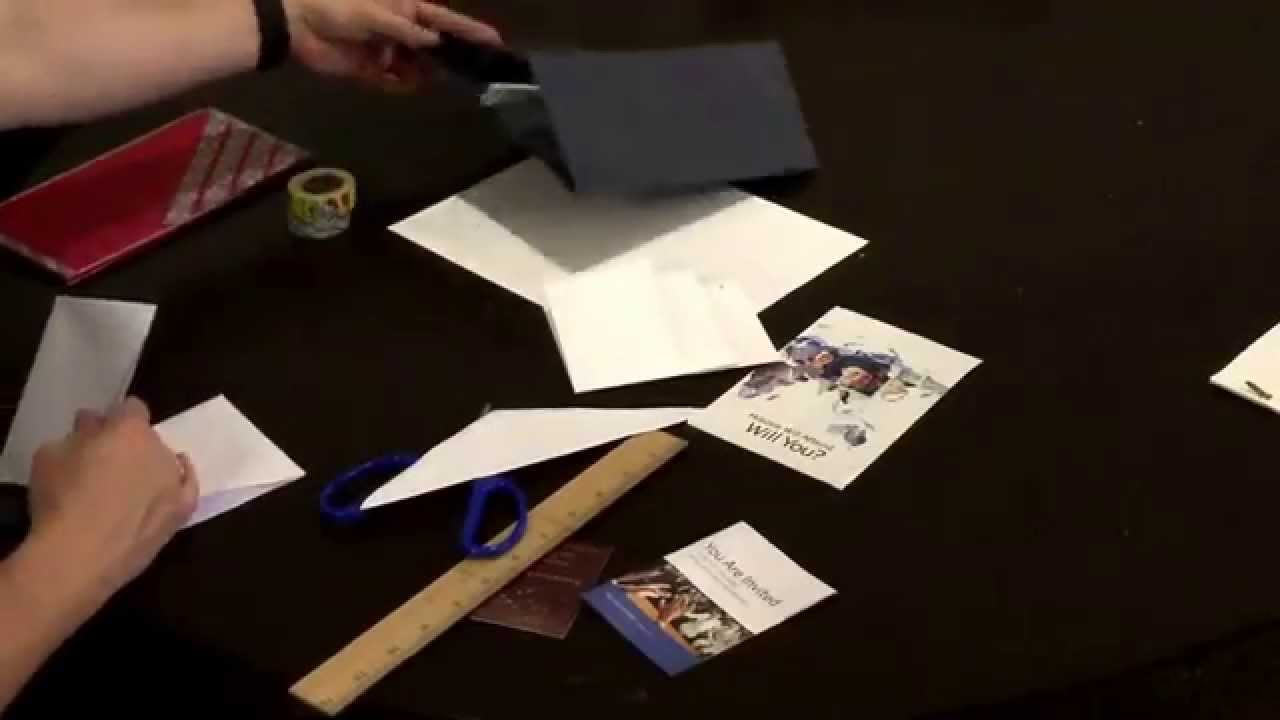 How to make a tract holder also meeting invitation and business how to make a tract holder also meeting invitation and business card holder easy no glue jw youtube colourmoves