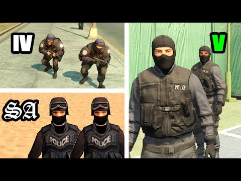 HOW The SWAT Has CHANGED In GTA GAMES 1999-2019 (Evolution)