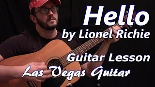 Hello by Lionel Richie Guitar Lesson