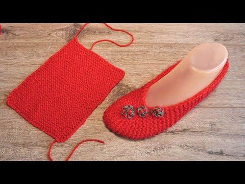 Тапочки балетки вязание спицами