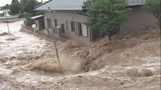 茶色い水にのまれた街 東日本豪雨、100棟被害 thumbnail
