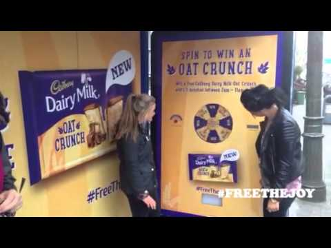 Cadbury Dairy Milk Oat Crunch OOH advertising in Dublin