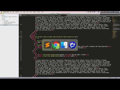 Bootstrap 4: Create an online forum – Post