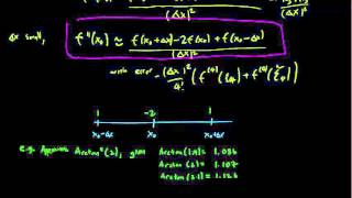 6.2 Difference approximations for second derivatives
