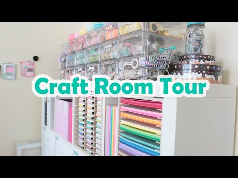 My Happy Space: A Tour of my Craftroom/Office/Makeup Room