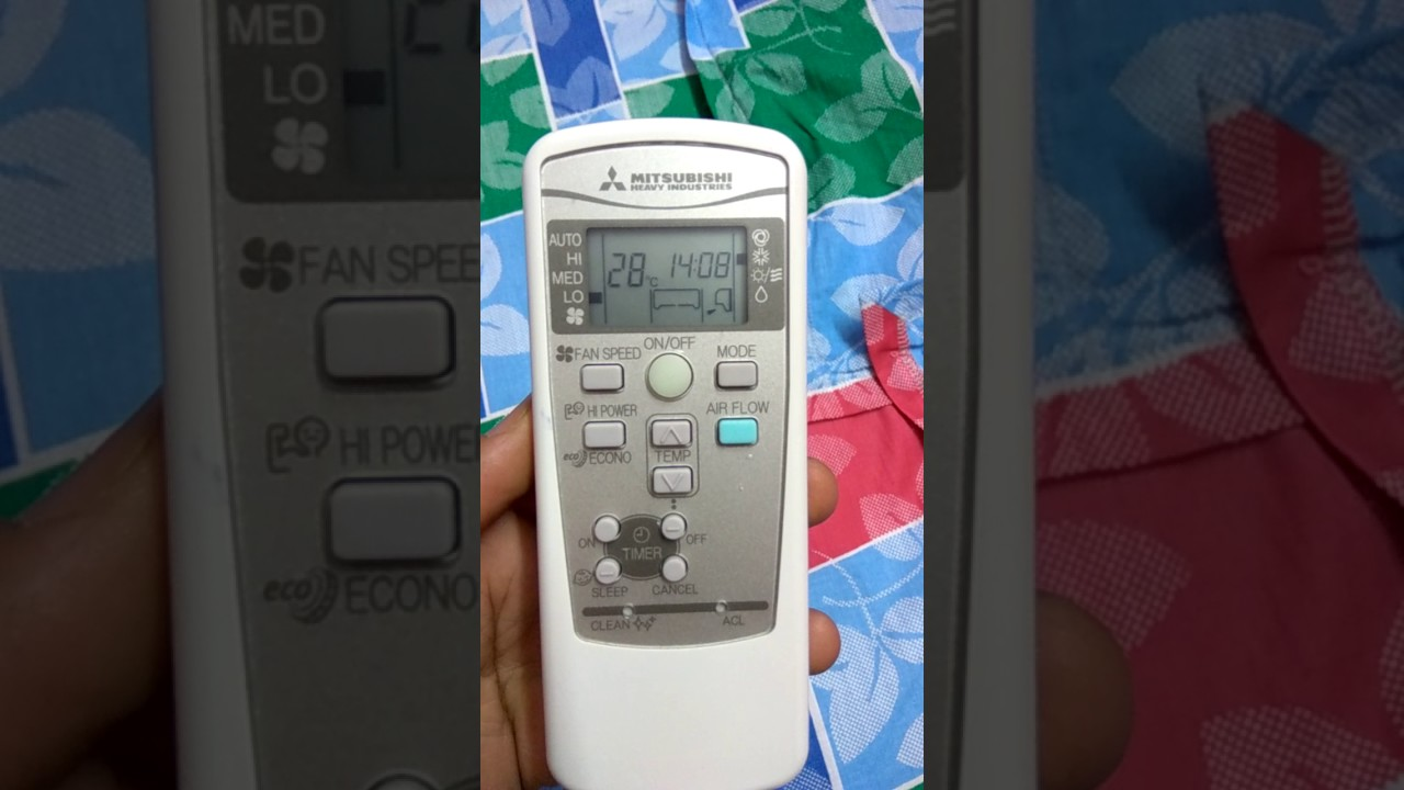 Mitsubishi Heavy Duty Ac On Amp Off Timer Youtube
