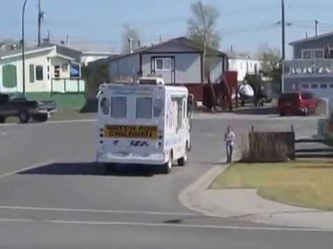 Ice Cream truck in Yellowknife, Northwest Territories, Canada