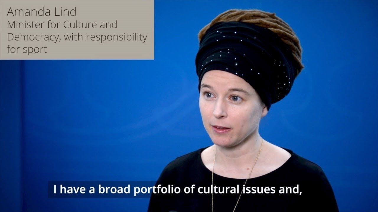 Amanda Lind new minister at the ministry of culture