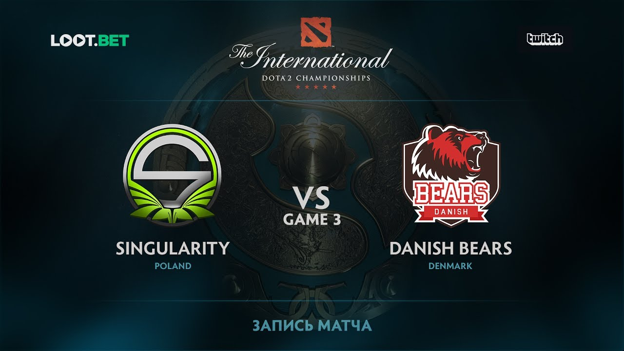 Singularity vs Danish Bears, Game 3, The International 2017 EU Qualifier