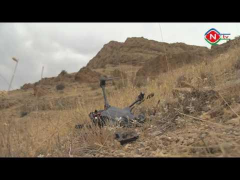 В Нахчыване сбит армянский беспилотник(квадрокоптер). Armenian Shot Down By UAV(quadcopter).