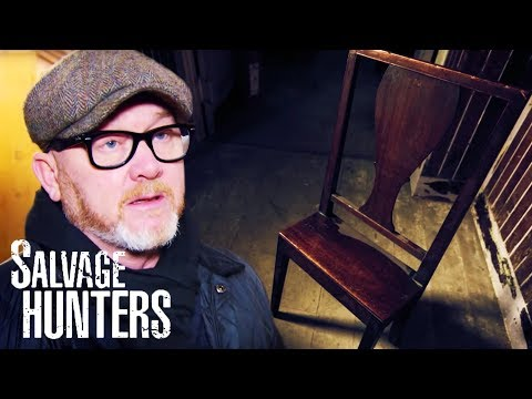 Drew Finds A Fascinating Antique Chair At Tom Corrie's New Shop   Salvage Hunters