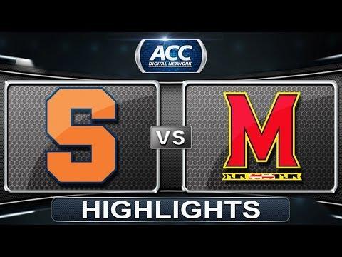 Syracuse vs Maryland   2014 ACC Women