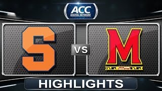 Syracuse vs Maryland | 2014 ACC Women