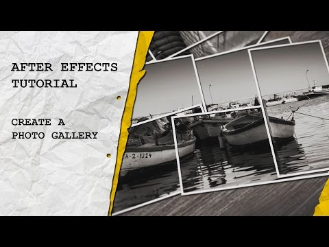 After Effects Tutorial: Create a Photo Gallery