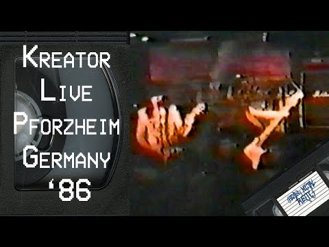 KREATOR Live in Pforzheim Germany June 7 1986 FULL CONCERT
