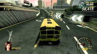 School Bus Waiting Game - Flatout Ultimate Carnage