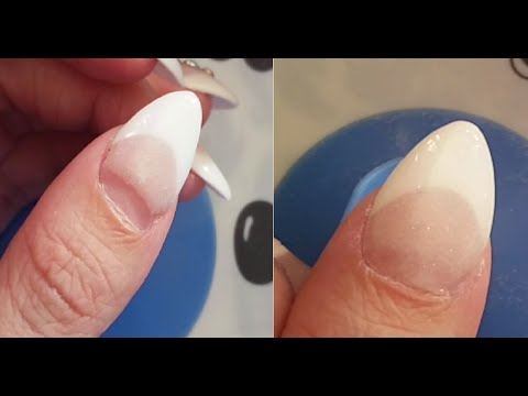 ♥ Acrylic Dip Nails Infill (first try) ♥ - YouTube