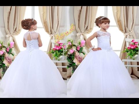 2ef205521 اجمل فساتين زفاف للاطفال باللون الابيض كلها رقة ونعومة 🌸 wedding dresses  for kids