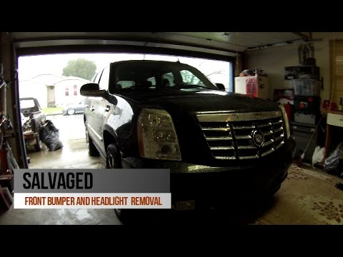 DIY- FRONT BUMPER AND HEADLIGHT REMOVAL FOR 07-13 CADILLAC ESCALADE