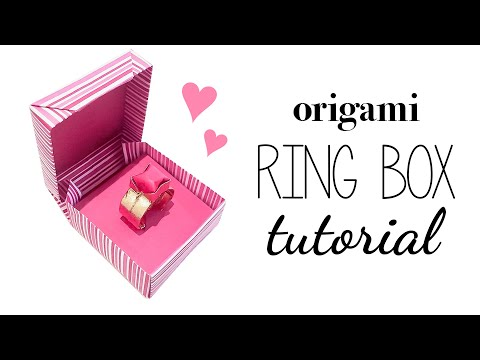 Origami Ring Box Instructions - DIY - Paper Kawaii