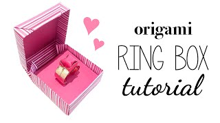 Origami Ring Box Instructions ♥ DIY ♥