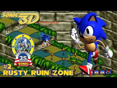 Sonic 3D (Mega Drive) | Part 2 | Rusty Ruin Zone | #25YearsOfSonic Episode 39