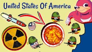 Dictators:No Peace Countryballs Gameplay #10: UGANDA NUKES USA! - NEW / Steam