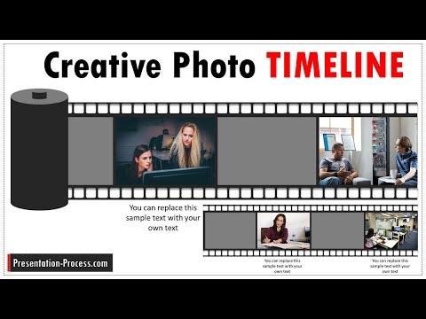 Creative PowerPoint Timeline With Photos: Tutorial