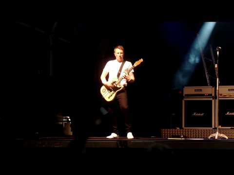 Status Quo stand in Rhythm Guitarist Richie Malone at Llanelli 2016 Summer Festival tour