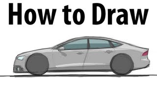 How to draw an Audi RS7 (RS7/S7/A7) - Sketch it quick!