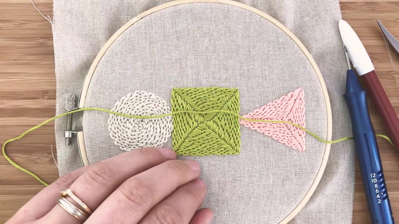Learn to punch needle with thread